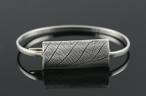 Rectangle Leaf hinged bracelet