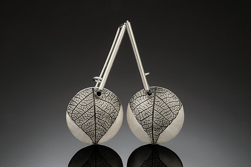 Round Leaf statement earrings
