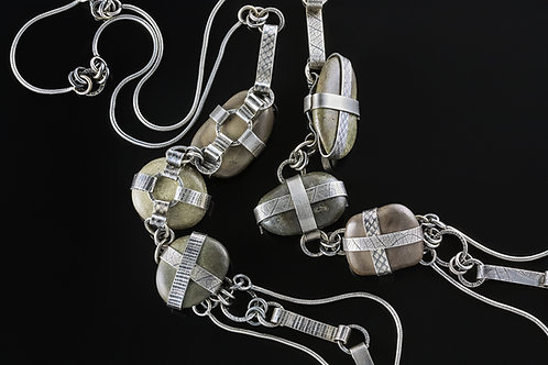 Stonewear wrapped multi strand necklace