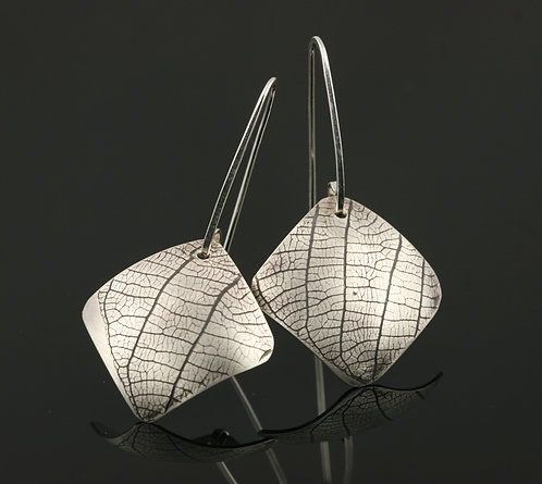 Square Leaf everyday earrings