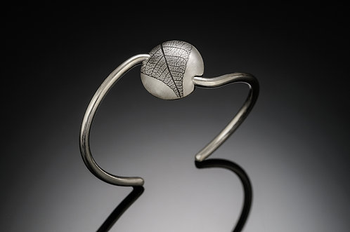 Round Leaf cuff bracelet