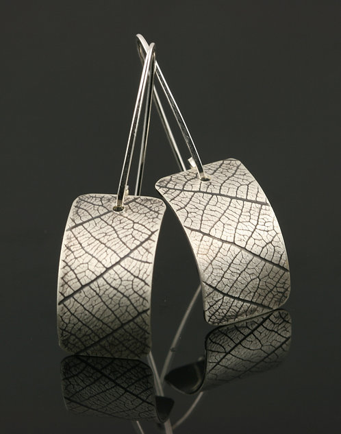 Rectangle Leaf everyday earrings