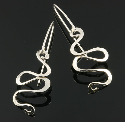 Letting Go earrings, variation 1