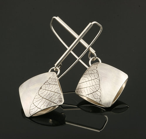 Square Leaf statement earrings