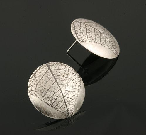 Round Leaf post earrings