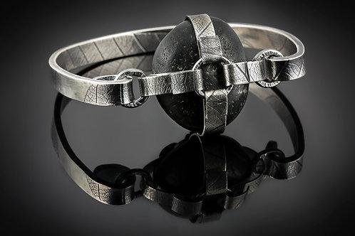 Stonewear hinged bracelet
