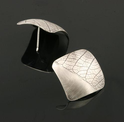 Square Leaf post earrings
