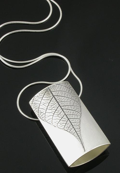 Large Leaf rectangle necklace