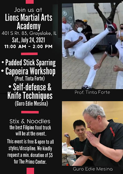 July 24 2021 Lions Martial Arts Workshop