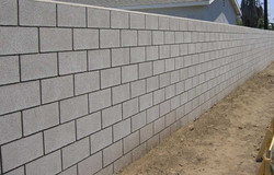 GroMast Application on Cement Cinder Blocks