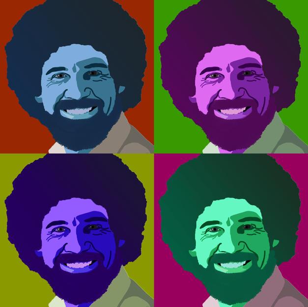 Pop Art of painter Bob Ross