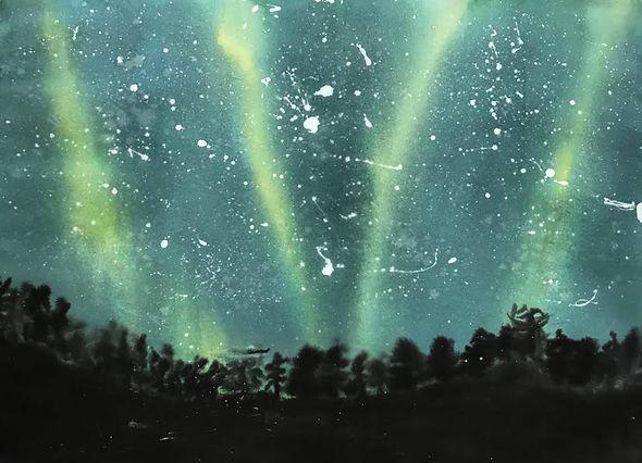 callie gillan aurora borealis ink _ wate