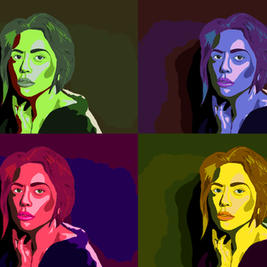 Pop Art of musician Lady Gaga