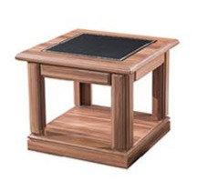 طاولة شاي كلاسيك موديل قنصل خشب وطني سطح جلد