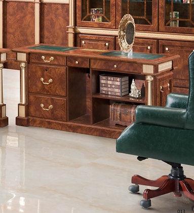 ملحق مكتب كلاسيك موديل امير خشب اسباني سطح جلد
