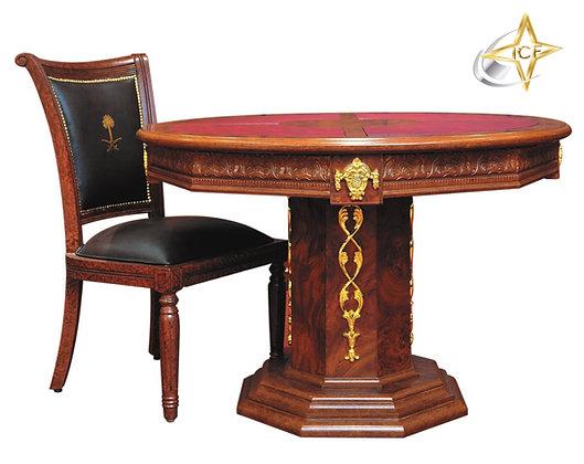 طاولة اجتماع دائرية كلاسيك موديل كنج