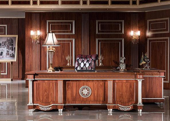 مكتب كلاسيك موديل ايليجانت خشب وطني سطح جلد