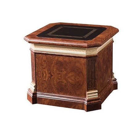 طاولة شاي كلاسيك موديل نيوكلاسيك خشب اسباني سطح جلد