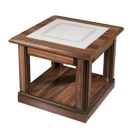 طاولة شاي كلاسيك موديل بوس خشب اسباني سطح جلد