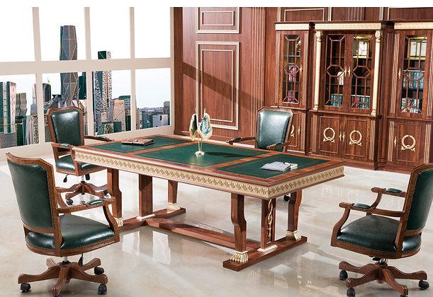 طاولة اجتماعات كلاسيك موديل وزير خشب اسباني سطح خشب