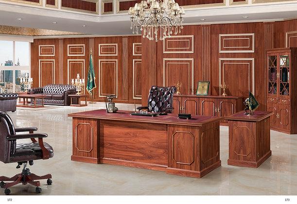 مكتب كلاسيك موديل سفير خشب وطني سطح جلد
