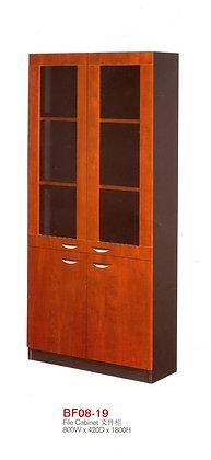 Modern Cabinet , 2 glass doors and 2 wooden doors, Model BF08