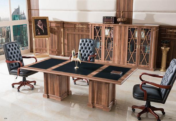 طاولة اجتماع كلاسيك موديل قنصل خشب وطني سطح خشب