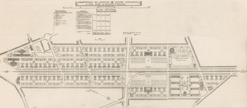 Plan habitations en commun quartier États-Unis