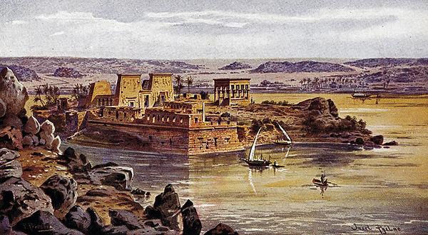 L'île de Philae. Égypte. Carte postale.j