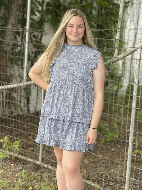 Powder Blue Ruffle Dress