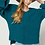 Thumbnail: Teal Green Popcorn Hi Lo Sweater