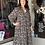 Thumbnail: Black/Bronze Prairie Midi Dress