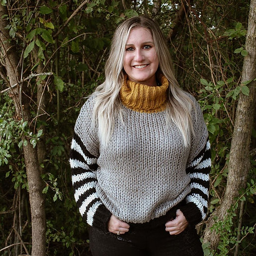 Grey Multi Striped Sweater