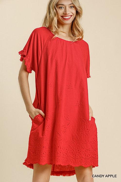 Candy Apple Eyelet Dress