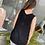 Thumbnail: Black Solid Loose Sweater Tank