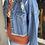 Thumbnail: Denim Distressed Crop Jacket