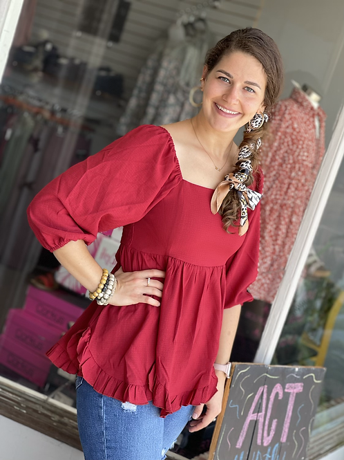 Ruby Squared Blouse