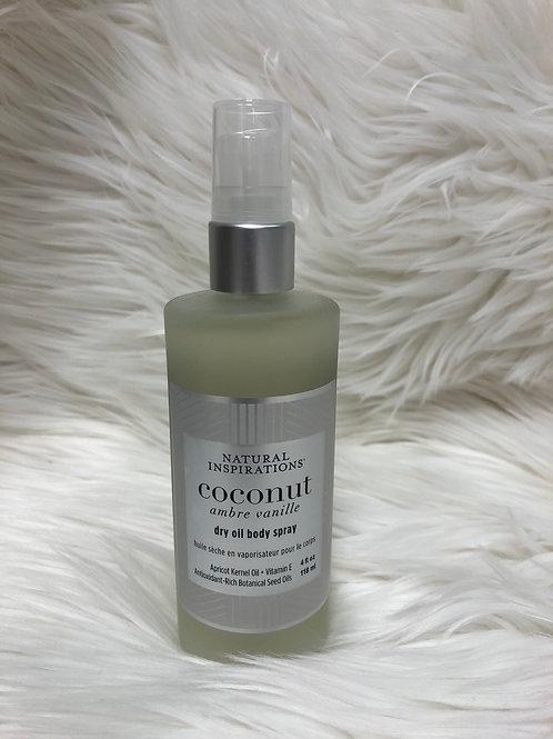 Coconut Dry Oil Body Spray 4fl oz