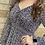 Thumbnail: Navy Foral Hi-Lo Ruffle Dress