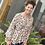Thumbnail: Floral Taupe v-Neck Top