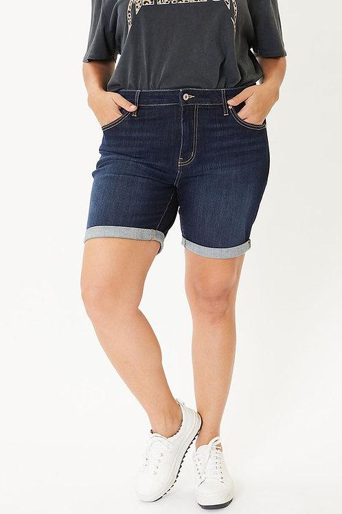 (P) KanCan Midrise Denim Cuff Shorts