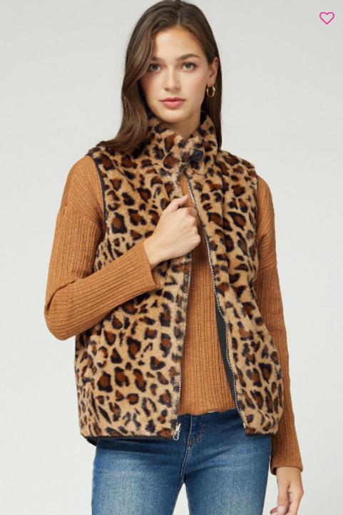 Black/Leopard Fury Vest