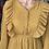 Thumbnail: Mustard LS Ruffle Breast Dress