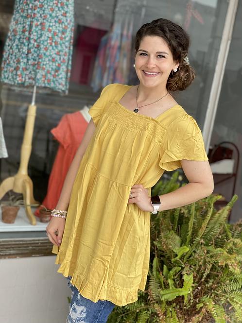 Honey Smocked Tunic Dress