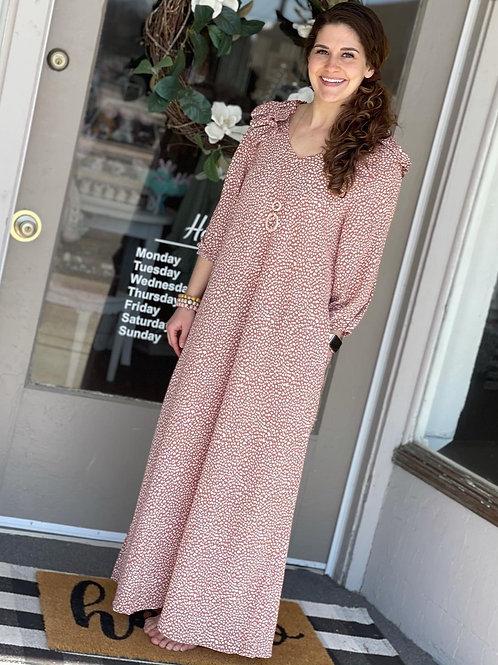 Blush Peasant Maxi Dress