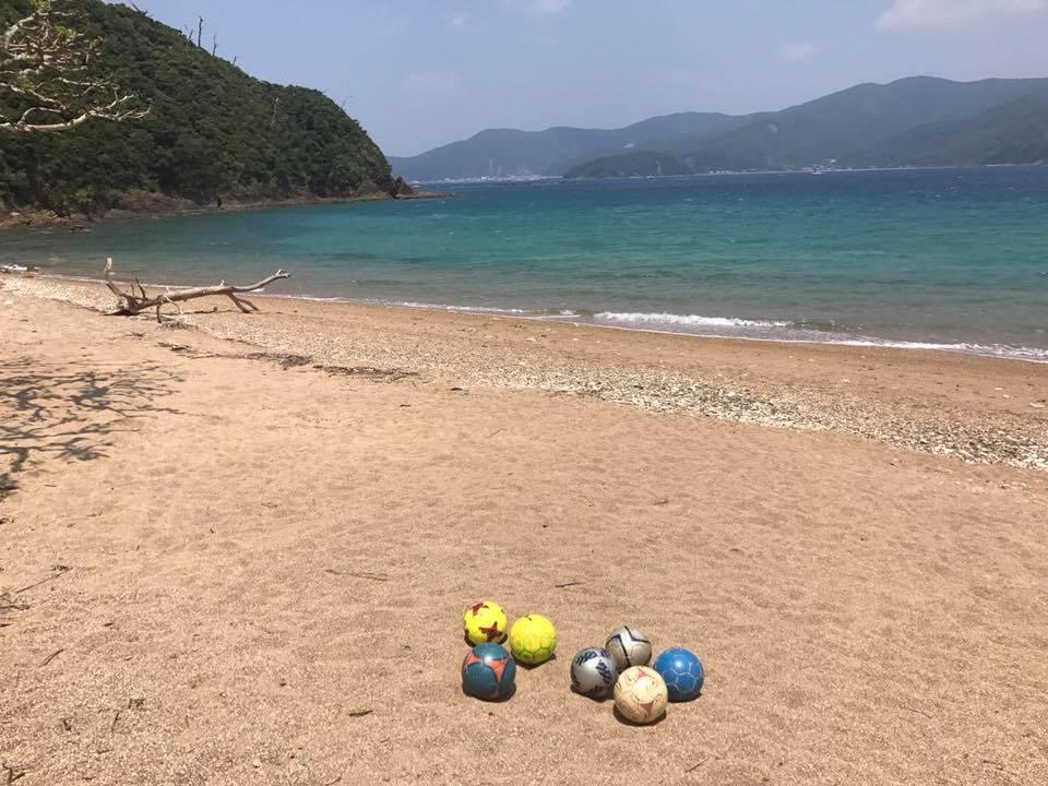 ボールと景色