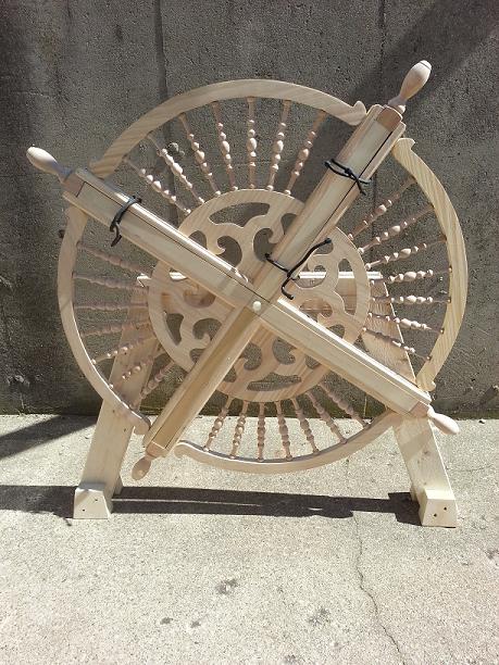 Ship's wheel under construction
