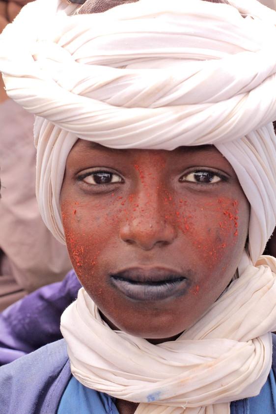 A Tuareg refugee boy from Mali celebrating Eid in Niger