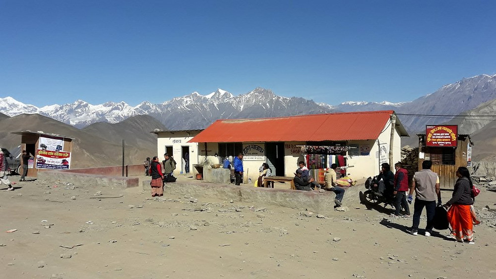 Public toilet supported by RWSSP-WN at Muktinath bus park, Mustang district