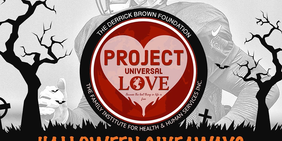 Halloween Giveaway with Derrick Brown Foundation